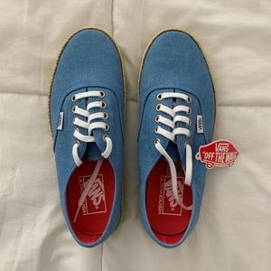 NEW Vans Authentic ESP ✖️ Washed Canvas Blue